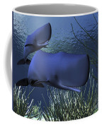 A Mother Sperm Whale Escorts Her Calf Coffee Mug by Corey Ford