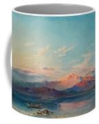 A Mountain Lake At Sunset Coffee Mug
