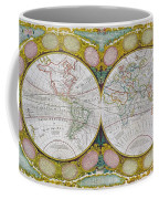 A New And Correct Map Of The World Coffee Mug by Robert Wilkinson