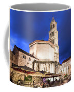 A Night View Of The Cathedral Of Saint Domnius In Split Coffee Mug
