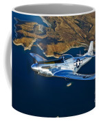 A North American P-51d Mustang Flying Coffee Mug