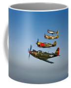 A P-36 Kingcobra, Two Curtiss P-40n Coffee Mug