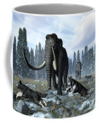 A Pack Of Dire Wolves Crosses Paths Coffee Mug
