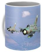 A Pair Of Bulgarian Air Force Mig-21bis Coffee Mug