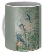 A Pair Of Magpie Jays  Vintage Wallpaper Coffee Mug