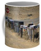 A Parade Of Mailboxes On The Outskirts Coffee Mug by Stephen St. John