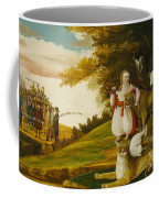 A Peaceable Kingdom With Quakers Bearing Banners Coffee Mug