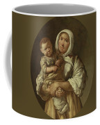 A Peasant Mother With Her Child In Her Arms Coffee Mug