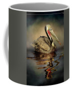 A Pelican And His Reflection Coffee Mug