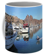 A Pelican Lands In The Old San Carlos Marina, Guaymas, Sonora, M Coffee Mug