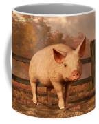 A Pig In Autumn Coffee Mug