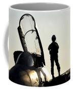 A Pilot Prepares To Enter His F-14b Coffee Mug