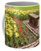 A Place To Sit By The Flowers Coffee Mug