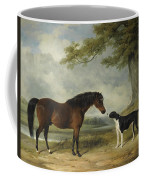 A Pony With A Dog Coffee Mug
