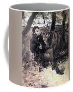 A Pushkin On A Garden Bench 1899 Valentin Serov Coffee Mug