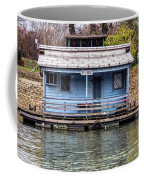A Raft House Moored To The Shoreline Of Ada Ciganlija Islet Coffee Mug