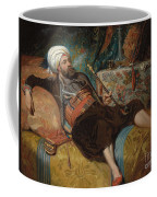 A Reclining Turk Smoking A Hookah, 1844 Coffee Mug