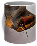 A Red Glowing Beetle Coffee Mug