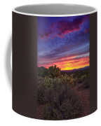 A Red Hot Desert Sunset Coffee Mug