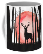 A Reindeer In The Woods Coffee Mug