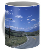 A Road Disappears Into The Distance Coffee Mug