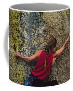 A Rock Climber On A Boulder Coffee Mug