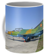 A Romanian Air Force Mig-21b Airplane Coffee Mug