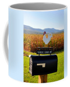 A Rooster Above A Mailbox 2 Coffee Mug