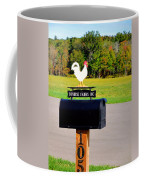 A Rooster Above A Mailbox 3 Coffee Mug