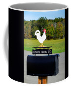 A Rooster Above A Mailbox 4 Coffee Mug
