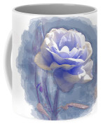 A Rose In Pastel Blue Coffee Mug