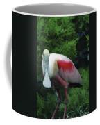 A Roseate Spoonbill Along The Gulf Coffee Mug