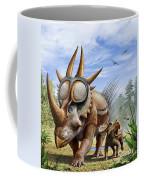 A Rubeosaurus And His Offspring Coffee Mug