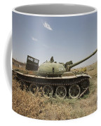 A Russian T-62 Main Battle Tank Rests Coffee Mug
