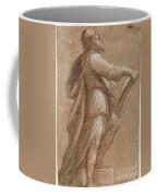 A Saint Holding A Book Coffee Mug