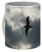 A Seagull With Outstretched Wings Soars Coffee Mug