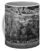 A Sedge Of Sandhill Cranes Coffee Mug