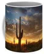 A Serene Sunset In The Sonoran Desert  Coffee Mug