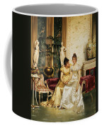 A Shared Confidence Coffee Mug by Joseph Frederick Charles Soulacroix