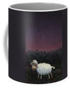 A Sheep In The Dark Coffee Mug by James W Johnson