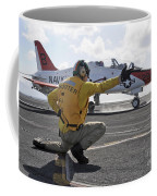 A Shooter Launches A T-45 Goshawk Coffee Mug