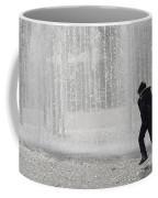 A Silhouette Of The Boy Against A Fountain Coffee Mug