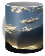 A Silhouetted Figure Trail Running Coffee Mug by Bobby Model