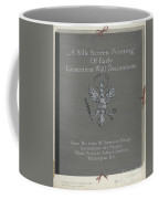 A Silk Screen Printing Of Early Connecticut Wall Decorations, Portfolio Cover Coffee Mug