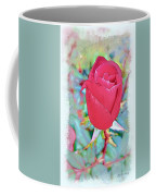 A Single Rose In October Coffee Mug