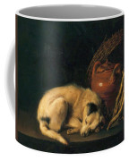 A Sleeping Dog With Terracotta Pot 1650 Coffee Mug