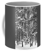 A Snowy Day Bw Coffee Mug