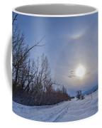 A Solar Halo Around The Sun At The End Coffee Mug