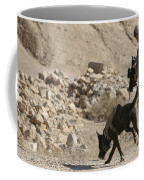 A Soldier And His Dog Search An Area Coffee Mug