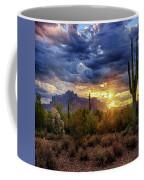 A Sonoran Desert Sunrise - Square Coffee Mug